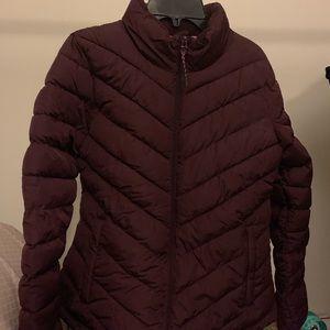 NEW! Gap Puffer Jacket MAROON Women's SMALL NWOT